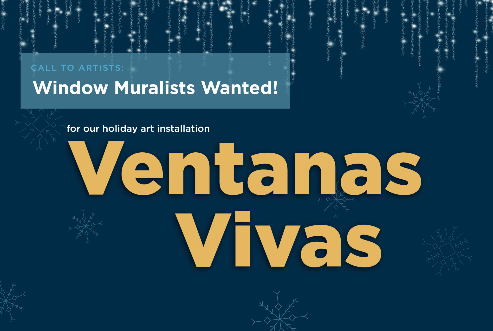 Call to Artists: Window Muralists Wanted!
